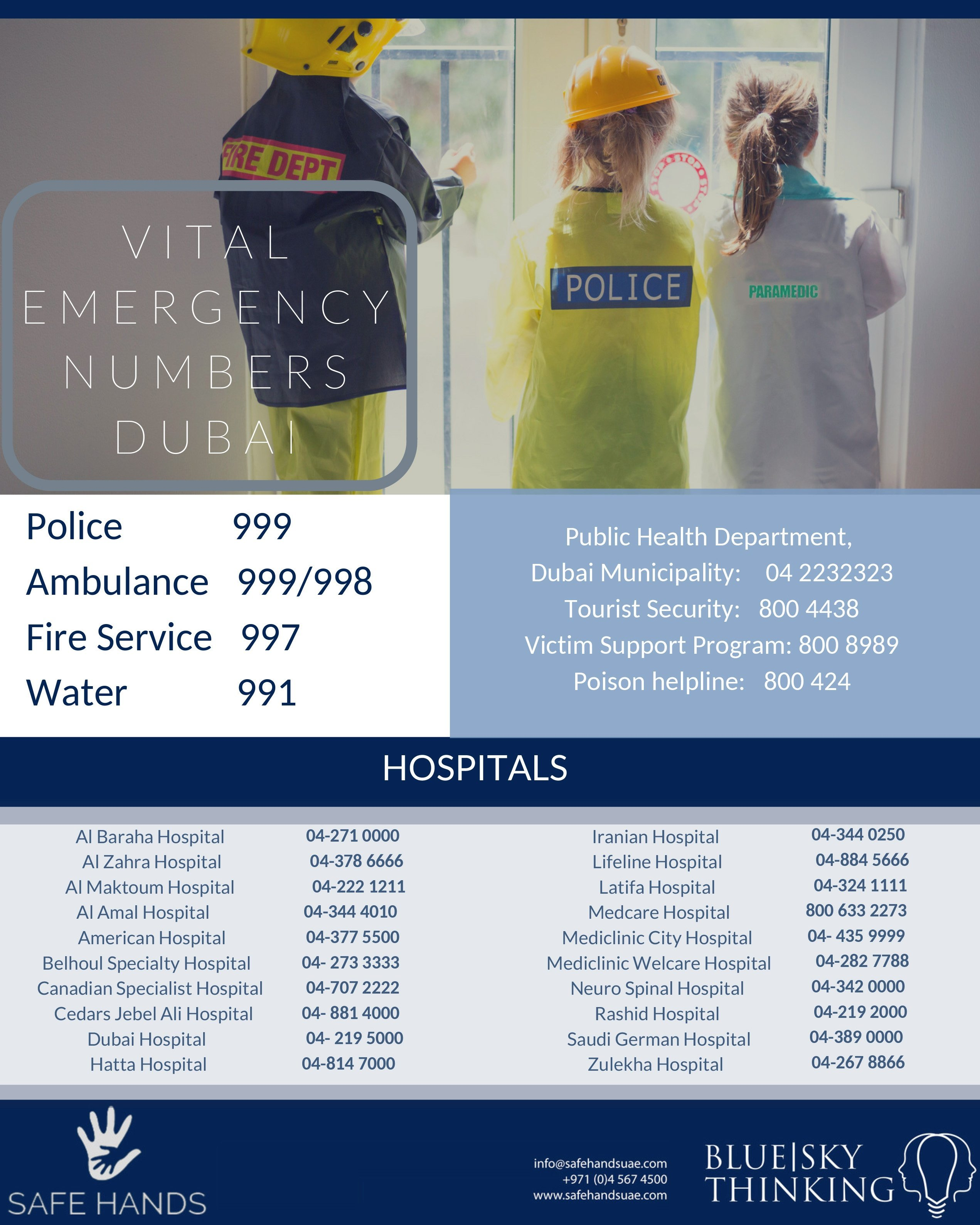 Your one-stop checklist for emergency contact numbers in Dubai